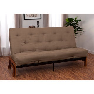 pine canopy willamette 10 inch microfiber suede futon set sleeper bed futons for less   overstock    rh   overstock