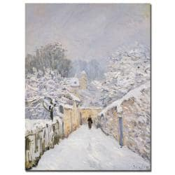 Alfred Sisley 'Snow at Louveciennes 1878' Gallery-wrapped Canvas Art