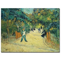 Vincent van Gogh 'Public Gardens in Arles 1888' Canvas Art