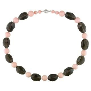 M by Miadora Sterling Silver Multi-colored Gemstone Bead Necklace