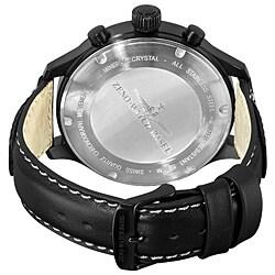 Zeno Men's 6221-8040-BK-A1 'Super Oversized' Black Strap Quartz Chronograph Watch