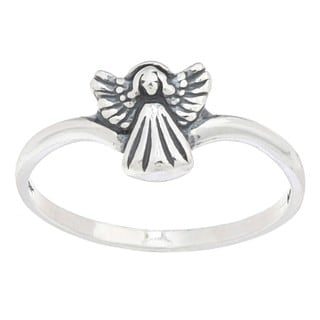 Silvermoon Sterling Silver Angel Ring