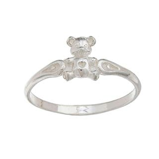 Silvermoon High-polish Sterling Silver Teddy Bear Children's Ring (Option: 4)|https://ak1.ostkcdn.com/images/products/6085031/P13755568.jpg?impolicy=medium