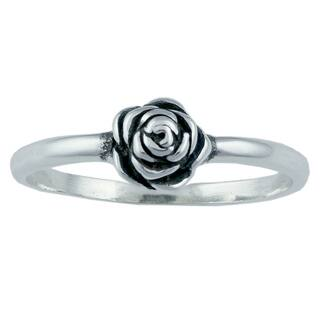 Silvermoon Sterling Silver Rose Ring (Option: 5)|https://ak1.ostkcdn.com/images/products/6085032/P13755569.jpg?impolicy=medium