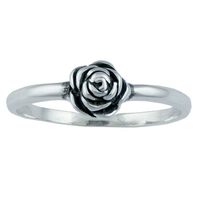Silvermoon Sterling Silver Rose Ring Free Shipping On