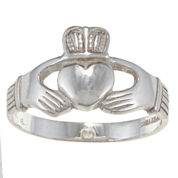 silvermoon sterling silver men 39 s claddagh ring free. Black Bedroom Furniture Sets. Home Design Ideas