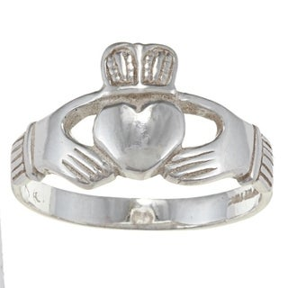 Silvermoon Sterling Silver Men's Claddagh Ring