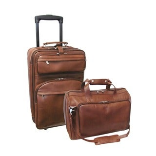 Amerileather Leather 2-piece Carry-on Luggage Set