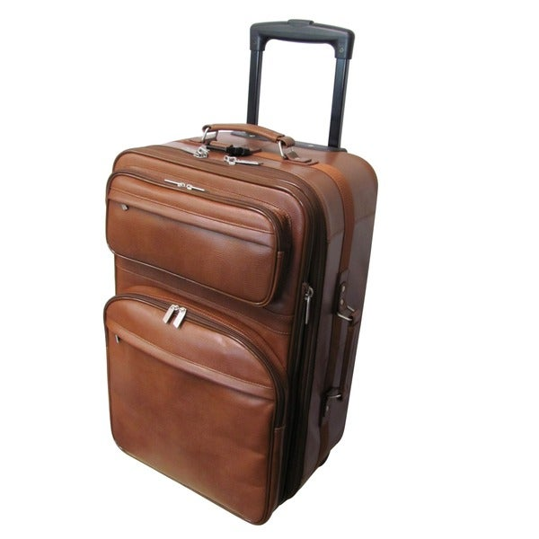 Amerileather Leather 2-piece Carry-on Luggage Set - Free Shipping ...