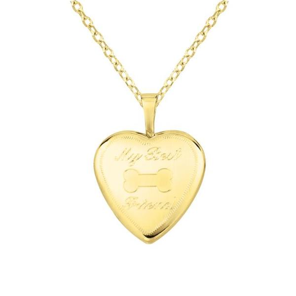 14k Gold and Silver 'My Best Friend' Heart-shaped Locket Necklace