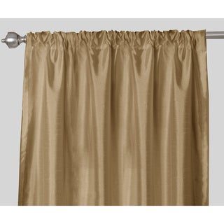 Faux Silk Rod Pocket 84 inch Curtain Panel Pair - 52 x 84