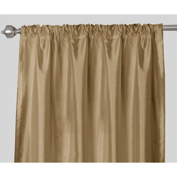 Faux Silk Rod Pocket 84 inch Curtain Panel Pair