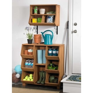 Fir Wood 6-shelf Storage Cubby