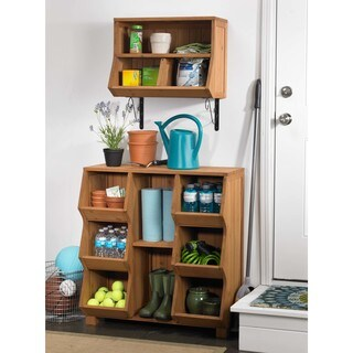 Merry Products Fir Wood 6-shelf Storage Cubby
