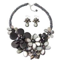 Handmade Sterling Silver Floral Bouquet Jewelry Set (Thailand)