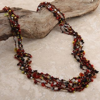 Nickel and Glass Tiny Beads Necklace (India)