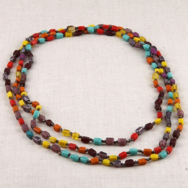 Glass Colors of Glass Beaded Necklace (India)