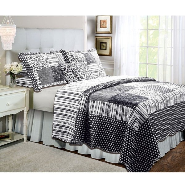 Greenland Home Fashions Natalie Oversize Full/ Queen-size 3-piece Quilt Set