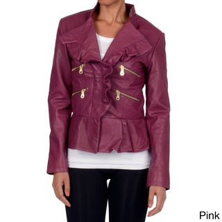 Member's Only Women's Peplum Ruffle Jacket