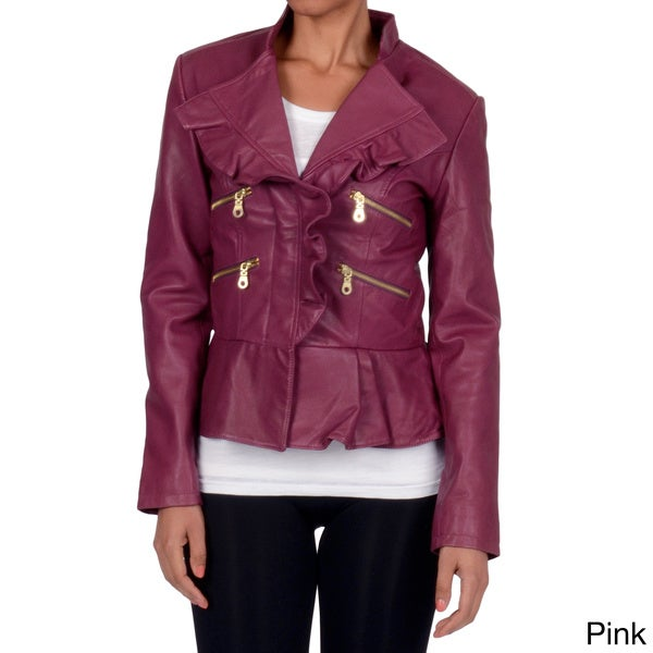 Member's Only Women's Peplum Ruffle Jacket