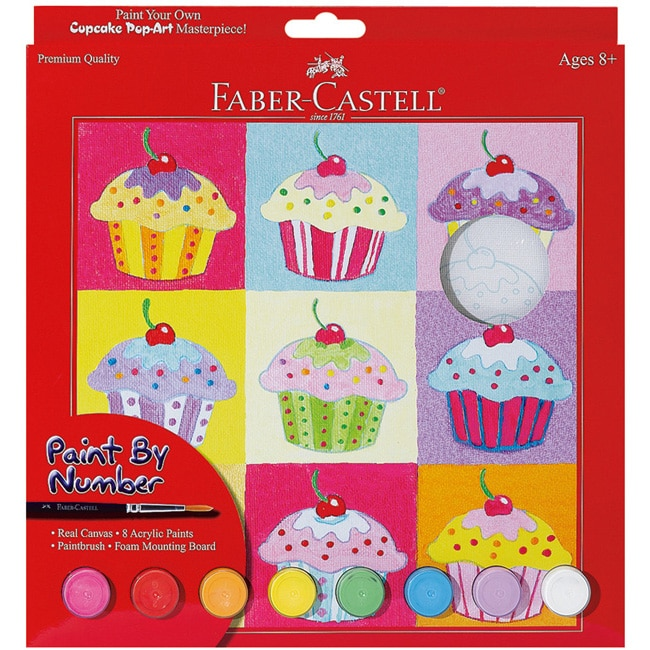 Cupcake Pop Art Paint By Number Kit