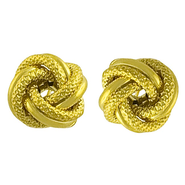 gold earrings knot tri all love colour v view p tricolour