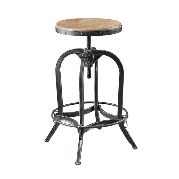 Pleasant Shop Adjustable 26 Inch Natural Fir Wood Finish Bar Stool By Pabps2019 Chair Design Images Pabps2019Com