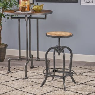 Adjustable 26-inch Natural Fir Wood Finish Bar Stool by Christopher Knight Home|https://ak1.ostkcdn.com/images/products/6087759/P13757811.jpg?impolicy=medium