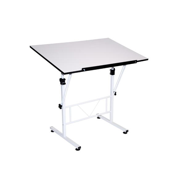 Martin Universal Design Smart Drafting and Hobby White Art Craft Table