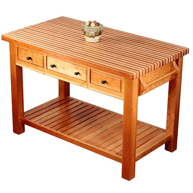 Heyman Island Cherry Kitchen Island