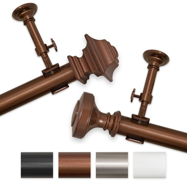 Elegant Touch 30 to 54-inch Adjustable Curtain Rod Set