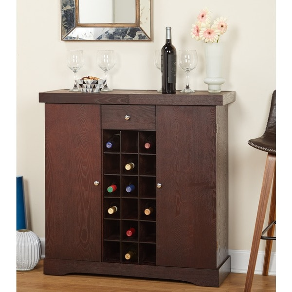 Simple Living Wine Storage Cabinet & Shop Simple Living Wine Storage Cabinet - Free Shipping Today ...