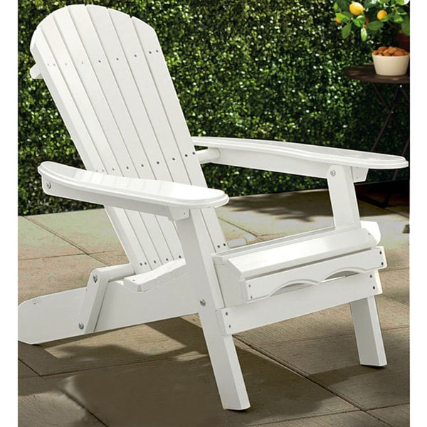 Merry Products Simple White Adirondack Chair