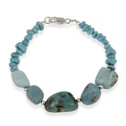 Glitzy Rocks Sterling Silver Turquoise Bracelet
