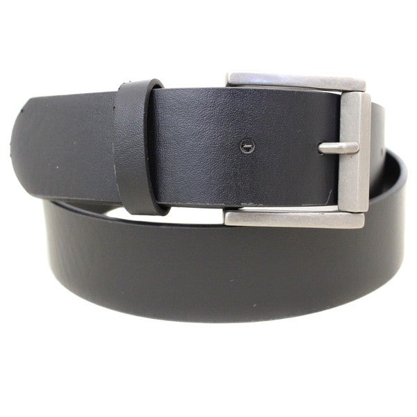 Entourage Black Casual Square Buckle Belt