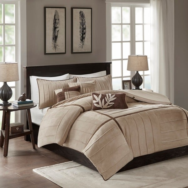 Shop Madison Park Dune 6 Piece Beige Duvet Cover Set On