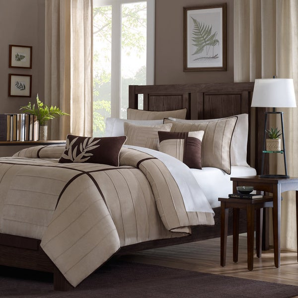 Madison Park Dune 6 Piece Beige Duvet Cover Set Free
