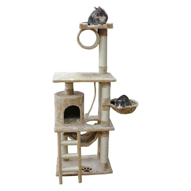 Kitty Mansions Boston Cat Tree Furniture (Beige)