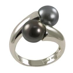 Pearls For You Sterling Silver Tahitian Pearl Ring (8-9 mm)