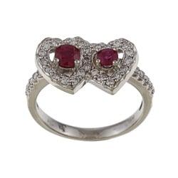 FJC 14k Gold Ruby and 2/5ct TDW Diamond Ring (H-I, I1-I2)