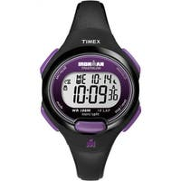 Timex Women's T5K523 Ironman Traditional 10-Lap Black/Purple Watch - 50 X 108/50 x 120/50 X 84
