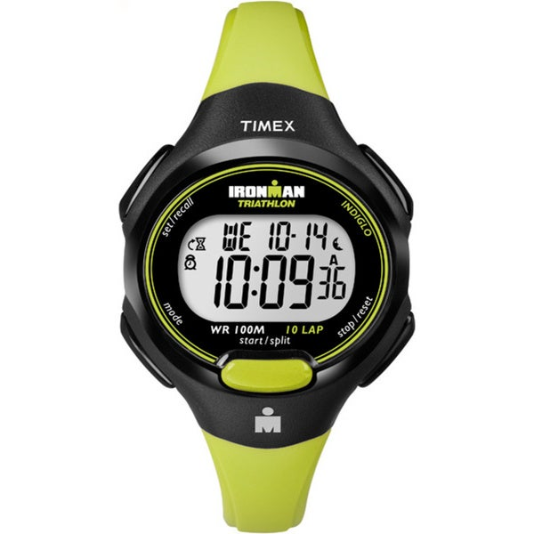 Timex Women's T5K527 Ironman Traditional 10-Lap Bright Green/Black Watch