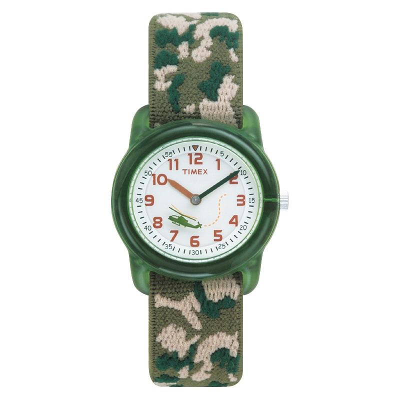 Timex T781419J Boy's Camouflage Stretch Band Watch, White...