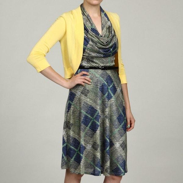 Jessica Howard Petite Yellow 3/4-Sleeve Sweater FINAL SALE