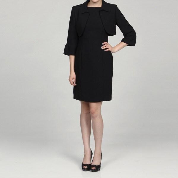 Jessica Howard Petite Crop Bell Sleeve Jacket Dress