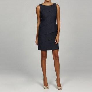 Jessica Howard Women's Petite Diagonal Tiered Dress