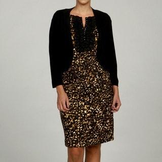 Jessica Howard Women's Plus Size Black 3/4-Sleeve Sweater