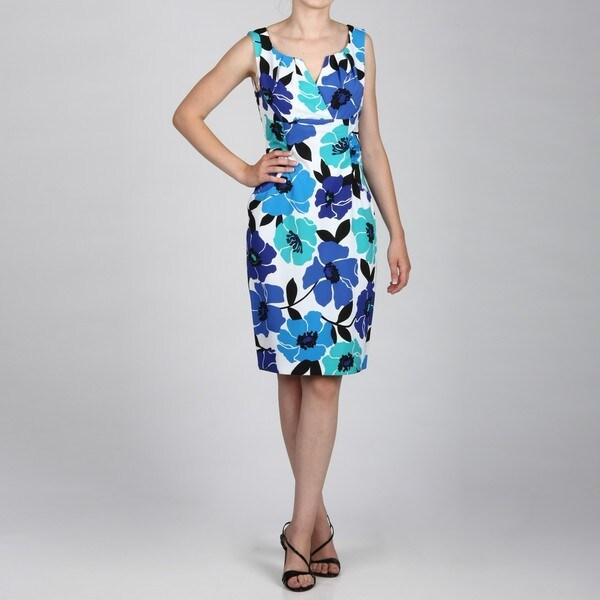 Jessica Howard Women's Surplice Bodice Sindonesiae Ruch Sheath Dress FINAL SALE