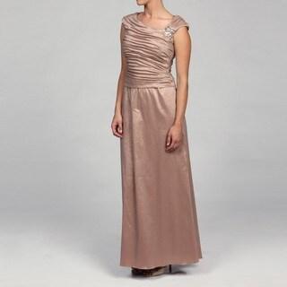 Jessica Howard Petite Shirred Bodice Beaded Dress
