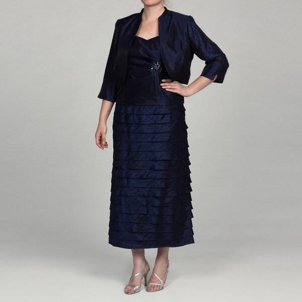 Jessica Howard Women's Plus 2-Piece Embellished Dress
